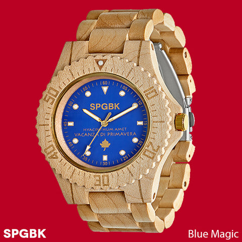 SPGBK Blue Magic Wooden Watch by Springbreak