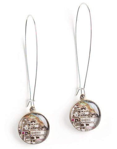 Teardrop Nautical Chart Earrings - {Custom}