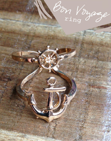 'Bon Voyage' Nautical Ring