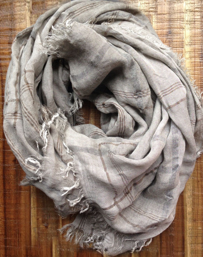 Gray Plaid - Italian Scarf