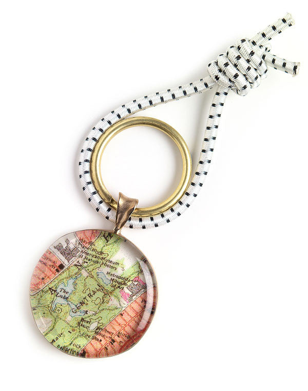Bronze Nautical Chart Key Ring {Custom}
