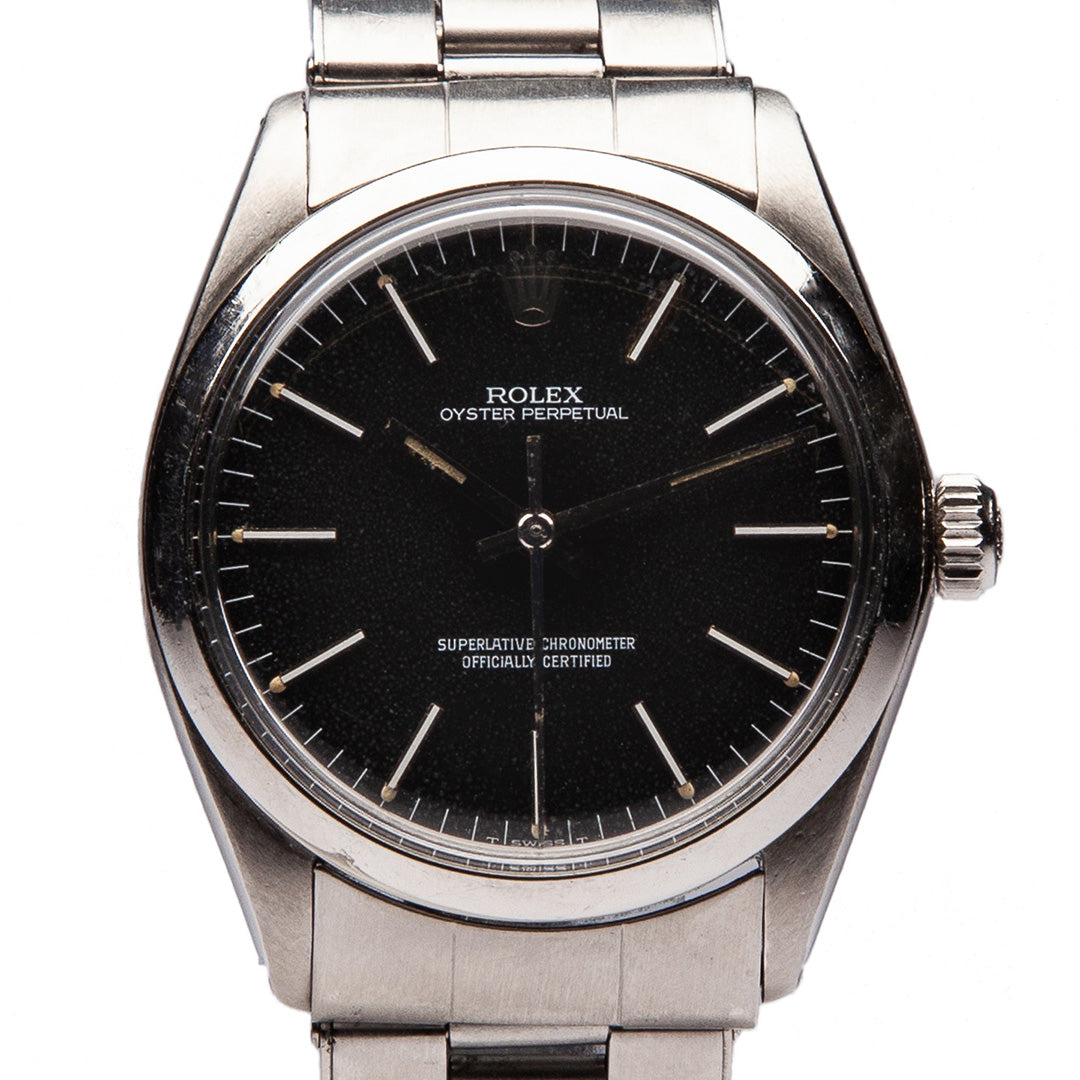 MAXFIELD PRIVATE COLLECTION | 1964 ROLEX OYSTER N PERPETUAL WATCH WITH BLACK DIAL