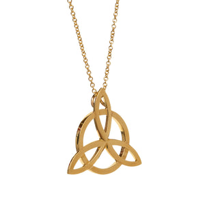 infinity circle pendant gold necklace