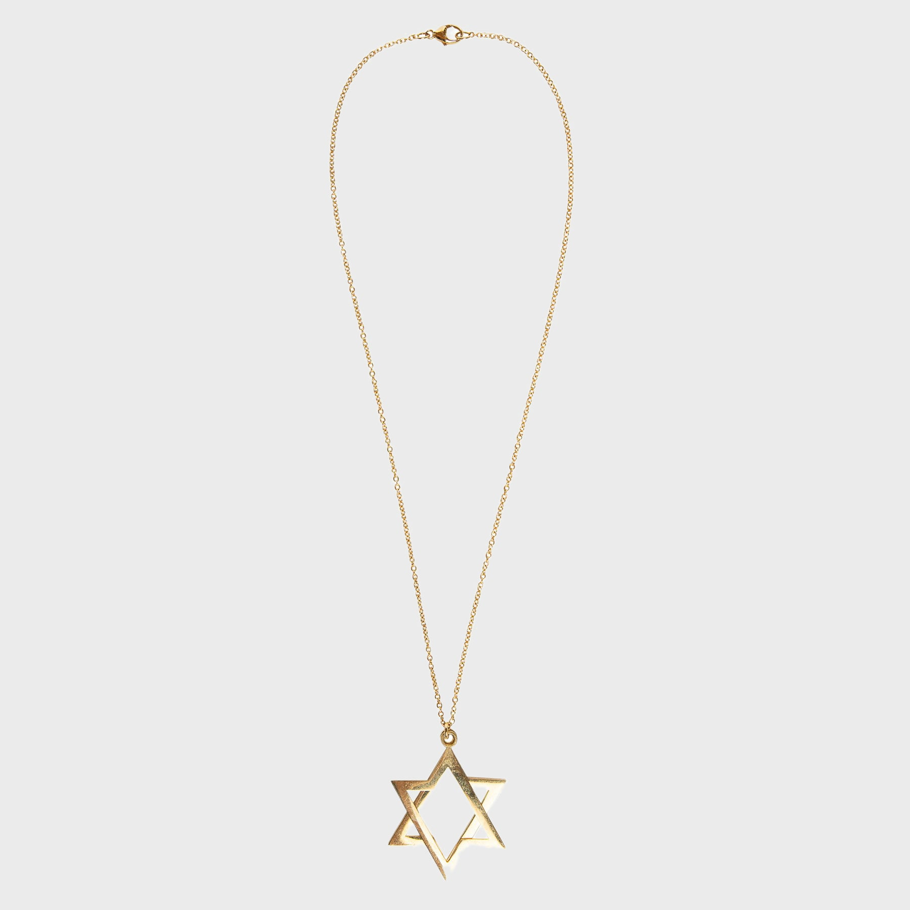 6 pointed star gold necklace