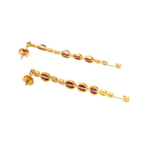 BOAZ KASHI | RUBY DIAMOND EARRINGS