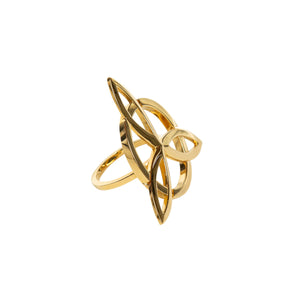 infinity circle gold ring back