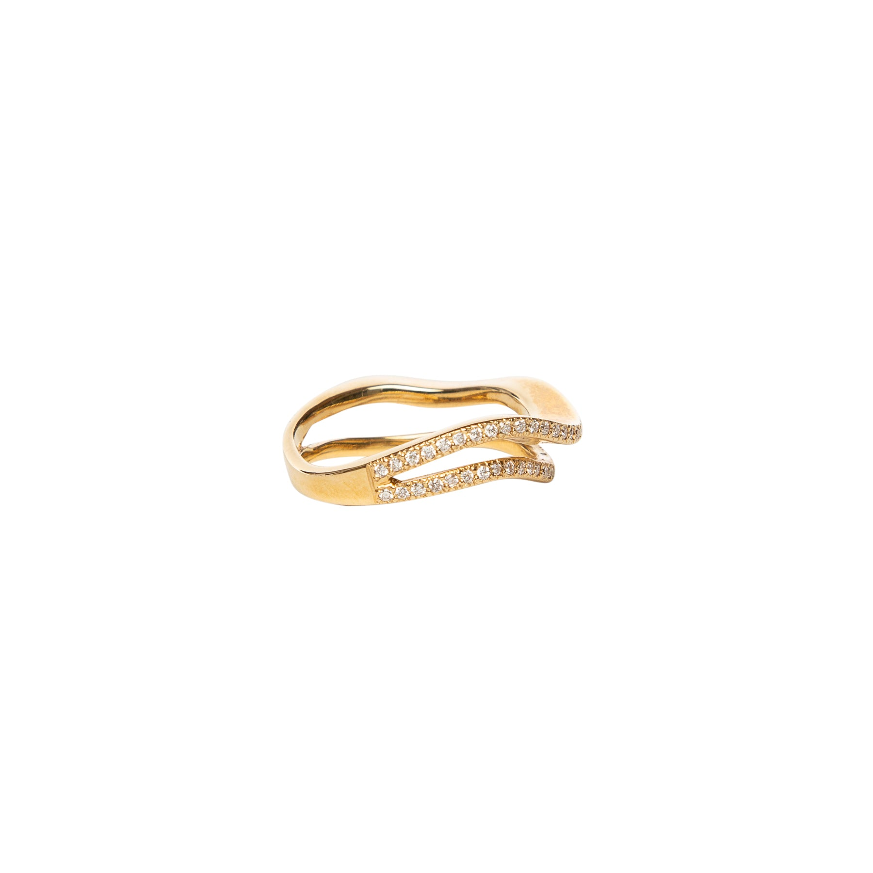 MAUD JEWELRY | 18K .49CT GOLD IMPERFECT STACKING RING