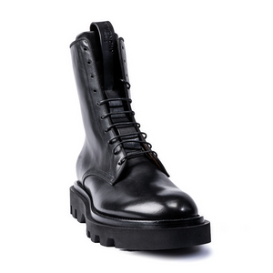 GIVENCHY | BLACK LEATHER COMBAT BOOTS