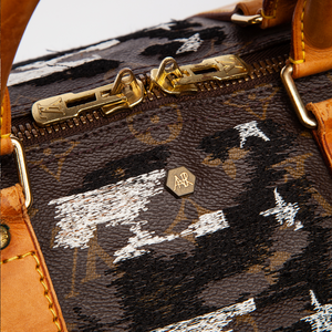 JAY AHR | VINTAGE VUITTON EMBROIDERED KEEPALL BAG