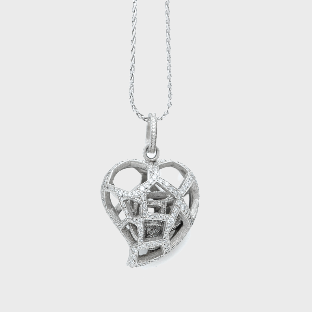 SANDRA MULLER | LOVE POTIONS 2.35CT PALT HEART NECKLACE