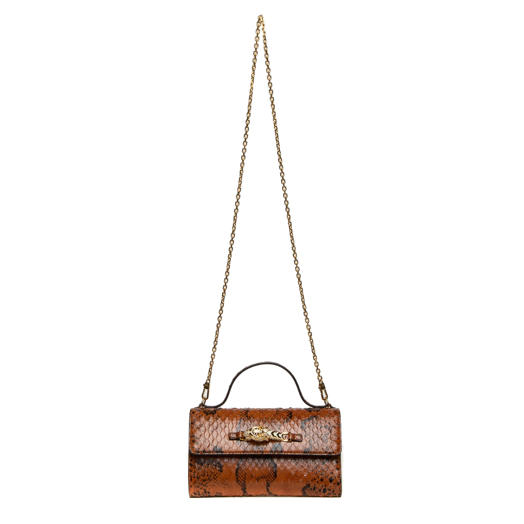 brown snakeskin bag