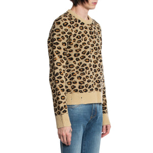 GUCCI | KNIT LEOPARD PRINT SWEATER