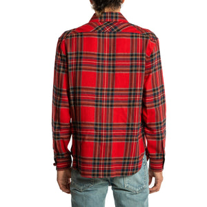 SAINT LAURENT PARIS | RED TARTAN POCKET OVER SHIRT
