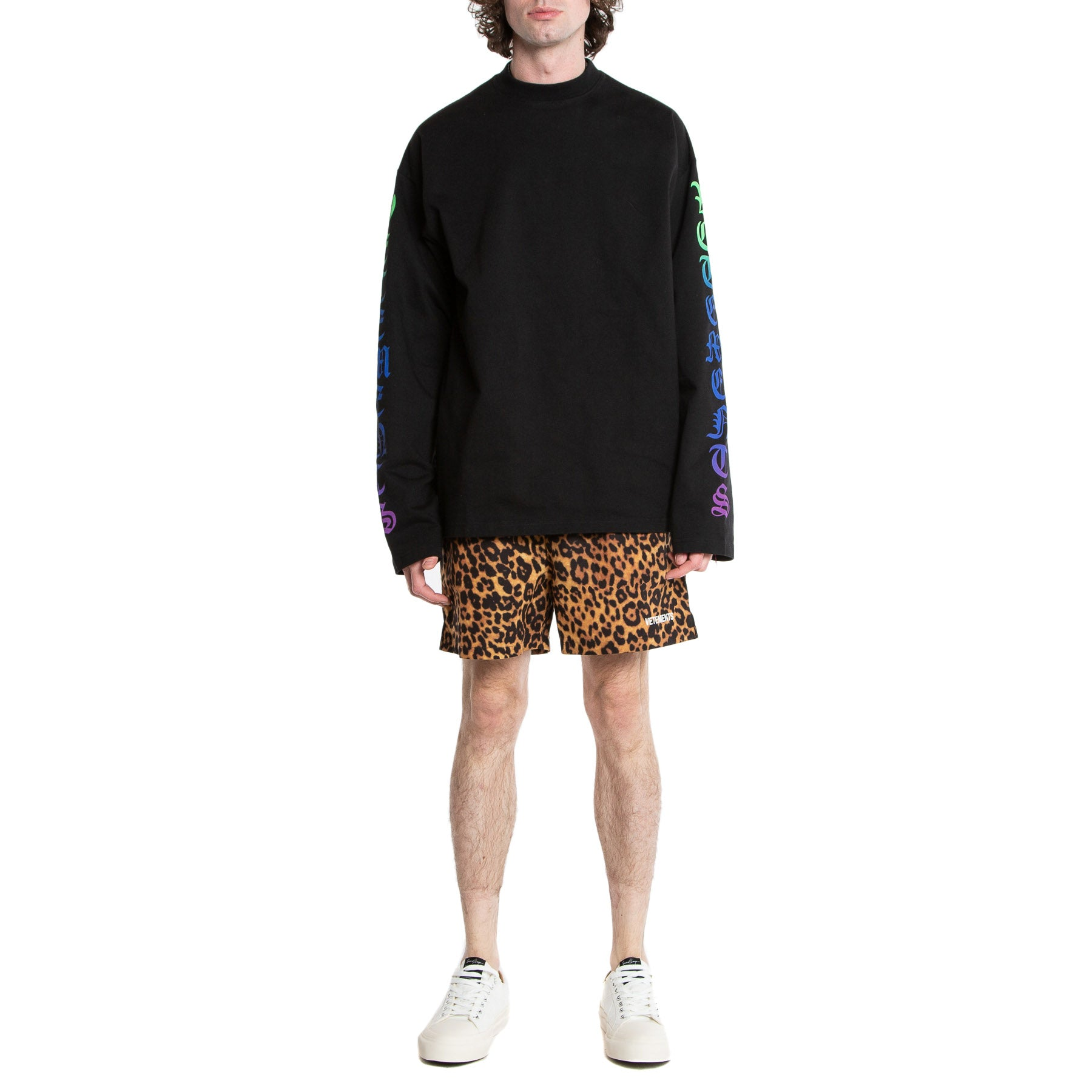 VETEMENTS | LEOPARD PRINT SWIM TRUNKS