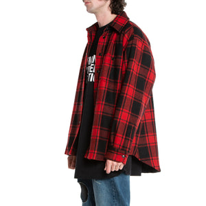 VETEMENTS | PADDED FLANNEL SHIRT