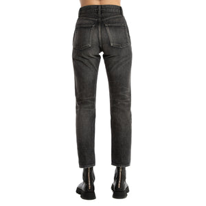 SAINT LAURENT PARIS | HIGH WAIST STRAIGHT LEG JEANS
