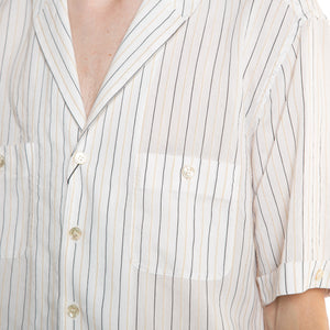 SAINT LAURENT | STRIPED SHORT SLEEVE SHIRT