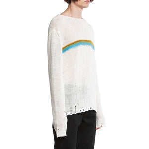 SAINT LAURENT PARIS | RAINBOW STRIPE SWEATER