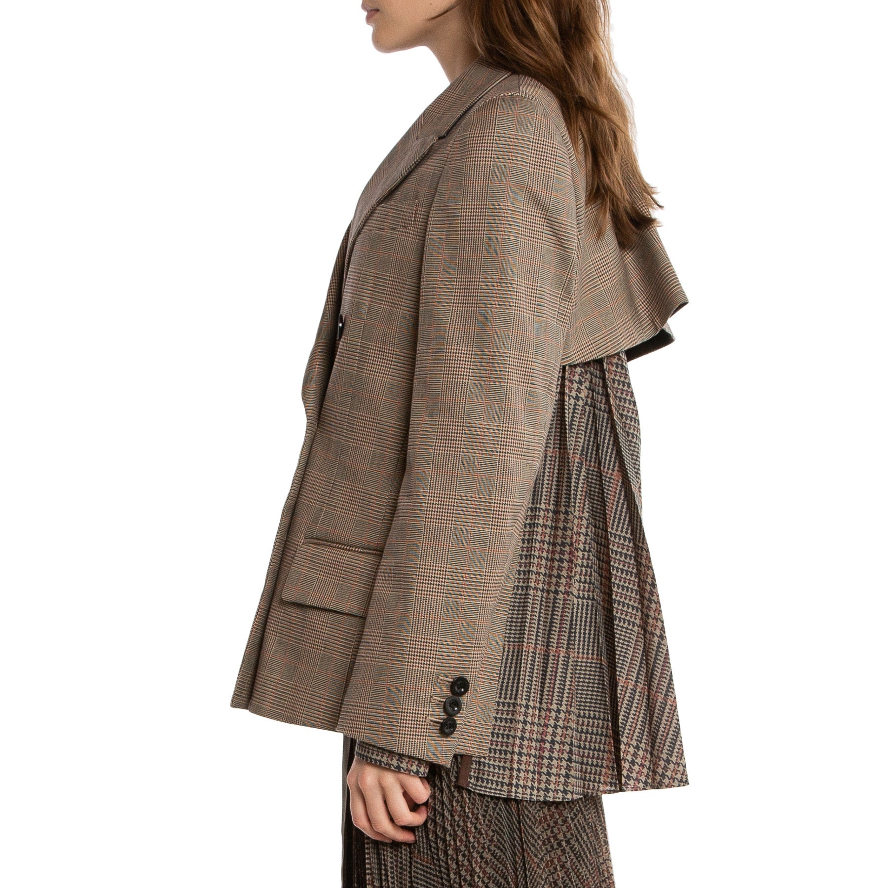 SACAI | CHECKED BLAZER JACKET