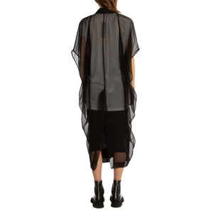 RICK OWENS | SHORT SLEEVE GEORGETTE COAT