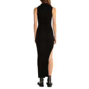 RICK OWENS | RIBBED SLEEVELESS DRESS