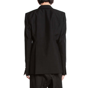 RICK OWENS | CONTRAST LAPEL SINGLE BREASTED JACKET