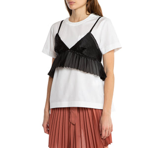 SACAI | DOUBLE LAYER SHORT SLEEVE TOP