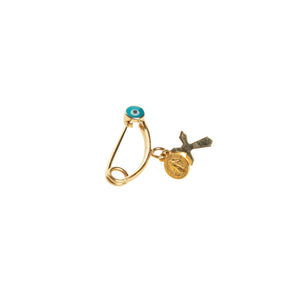 COLETTE | BLUE EVIL EYE GOLD PIN