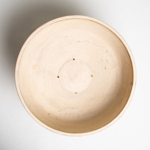 MAXFIELD PRIVATE COLLECTION  | 1950'S ARCHITECTURAL POTTERY BOWL WITH METAL STAND