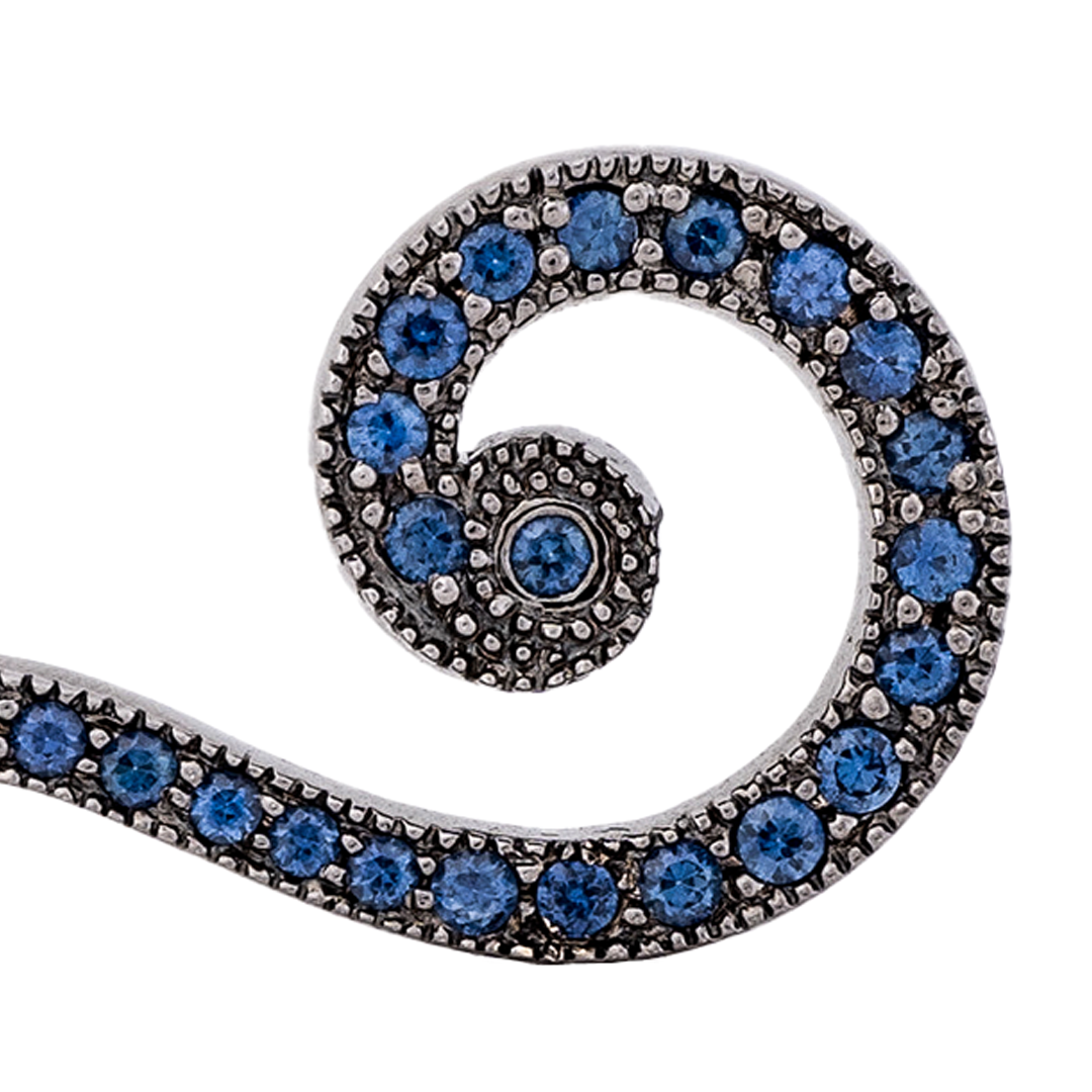 MAXFIELD PRIVATE COLLECTION  | SAPPHIRE QUESTION MARK BROOCH