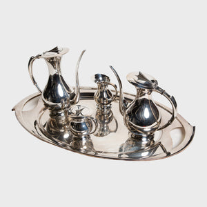 MAXFIELD PRIVATE COLLECTION | 6 PIECE SILVER TEA SERVICE SET