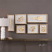 Golden Leaves, Shadow Box Set - Accessories - High Fashion Home