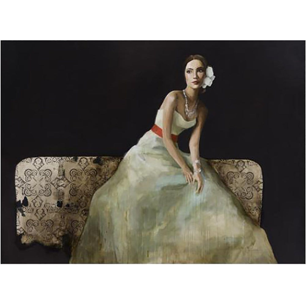 Lady on Bed II - Accessories Artwork - High Fashion Home
