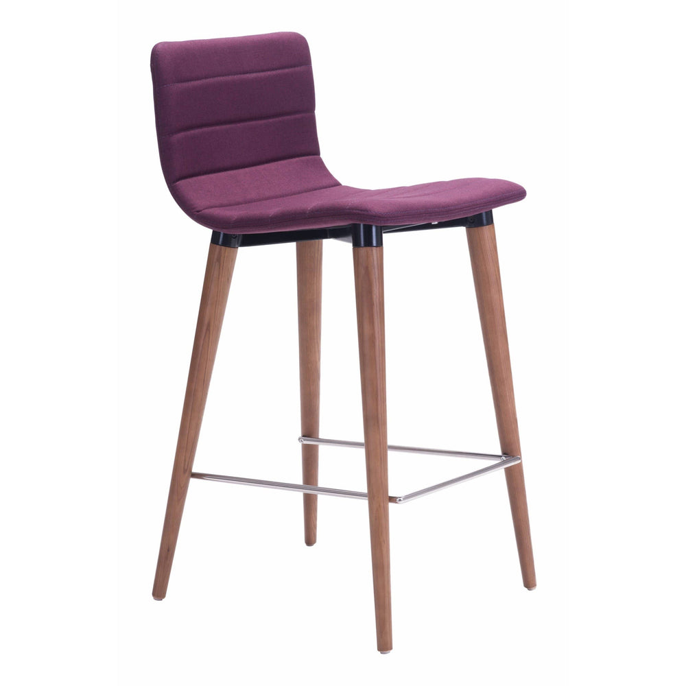 Jericho Counter Chair, Purple (Set of 2) - Furniture - Dining - High Fashion Home