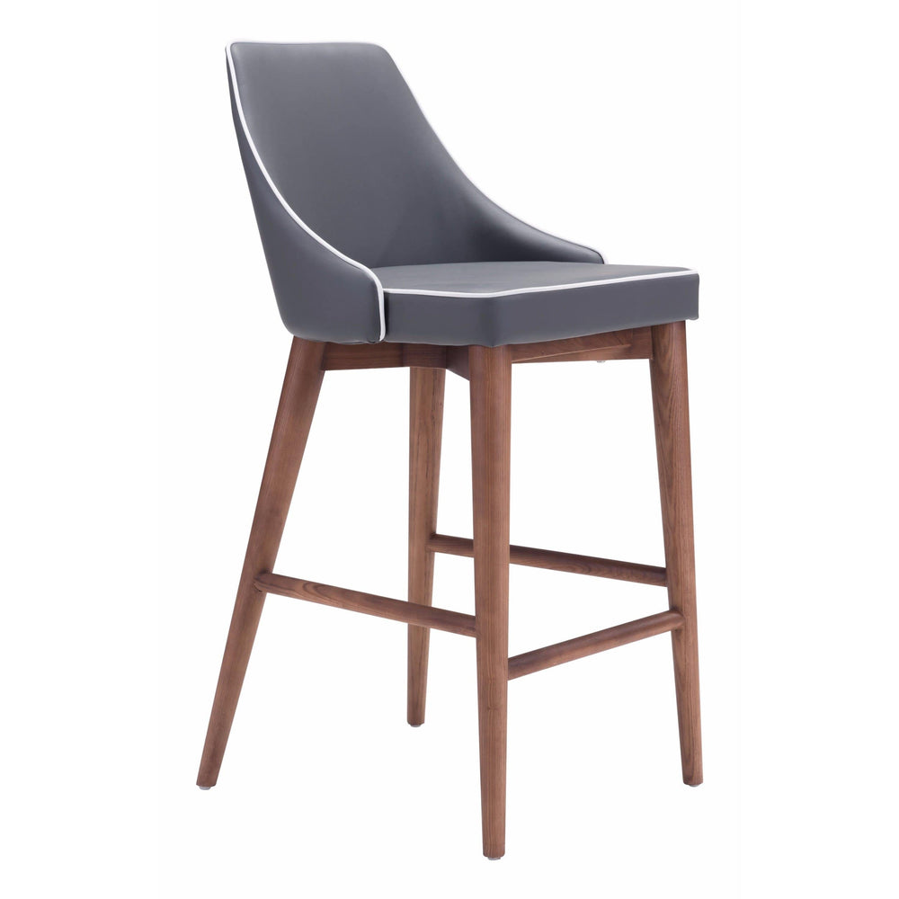 Moor Counter Chair, Dark Gray - Furniture - Dining - High Fashion Home