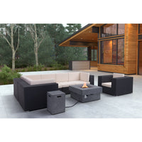 Diablo Propane Fire Pit, Gray - Furniture - Outdoor - Accent Tables