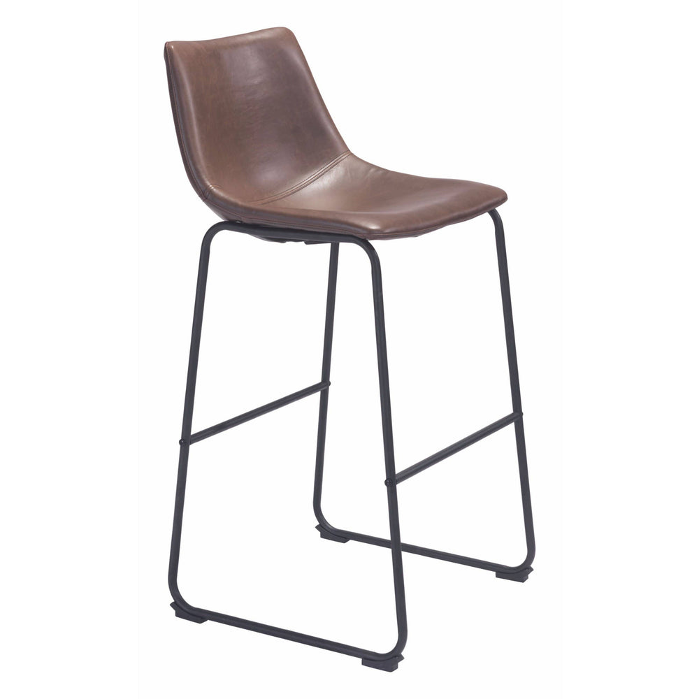Smart Bar Stool, Vintage Espresso - Furniture - Dining - High Fashion Home