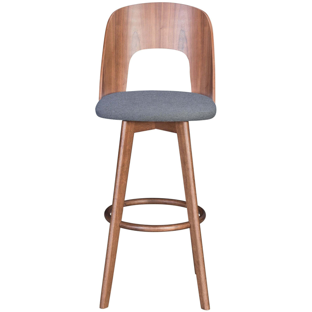 Anton Bar Stool, Dark Gray - Furniture - Zuo Modern