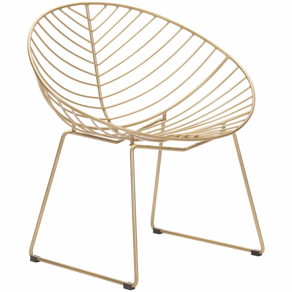 Hyde Outdoor Lounge Chair, Gold (Set of 2) - Furniture - Chairs - High Fashion Home