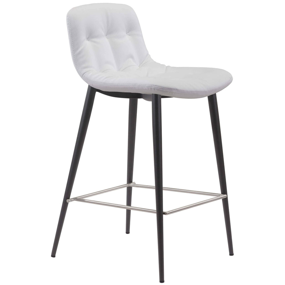 Tangiers Counter Stool, White (Set of 2) - Furniture - Zuo Modern