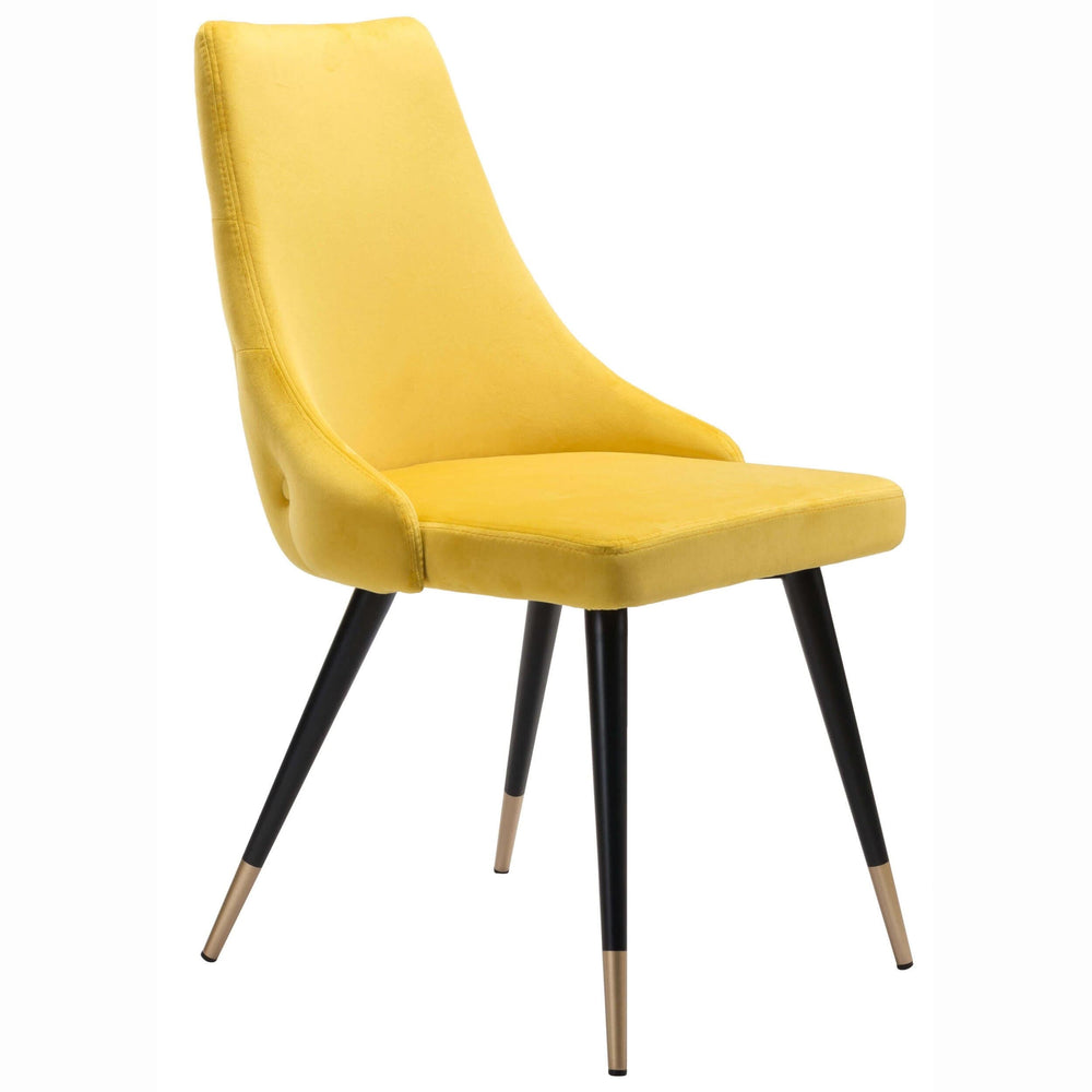 Piccolo Dining Chair, Yellow (Set of 2) - Furniture - Chairs - High Fashion Home