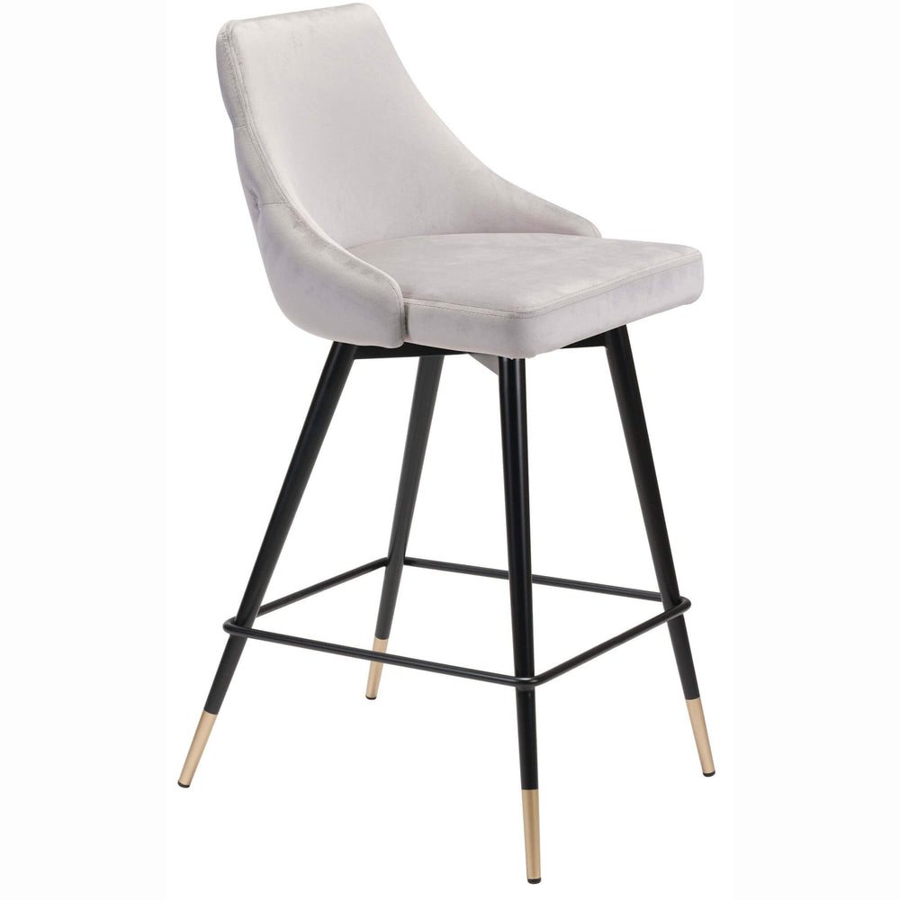 Piccolo Counter Chair, Gray - Furniture - Dining - Dining Stools