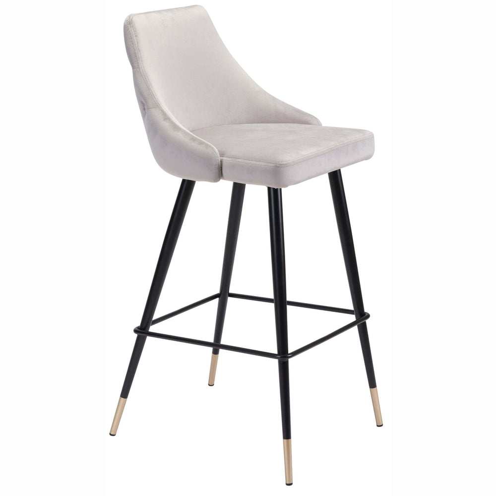 Piccolo Bar Chair, Gray - Furniture - Dining - Dining Stools