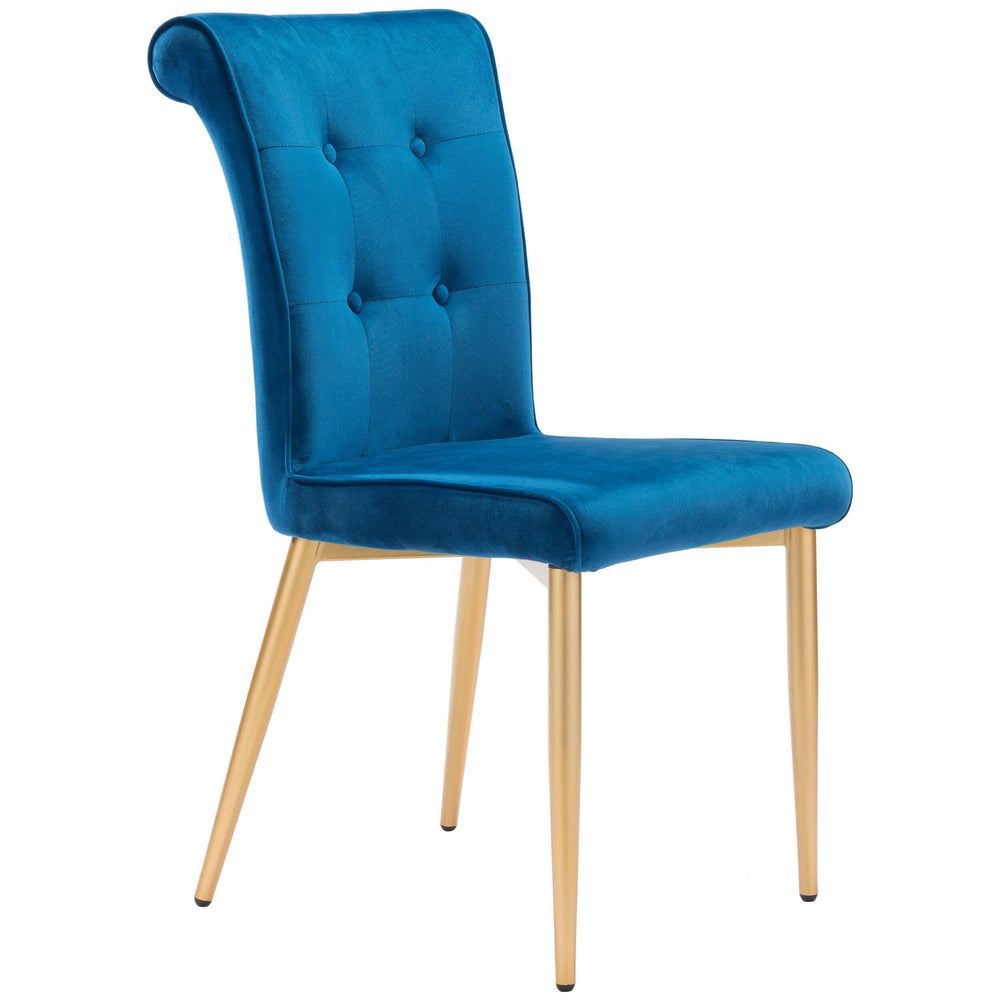 Niles Dining Chair, Blue (Set of 2) - Furniture - Zuo Modern