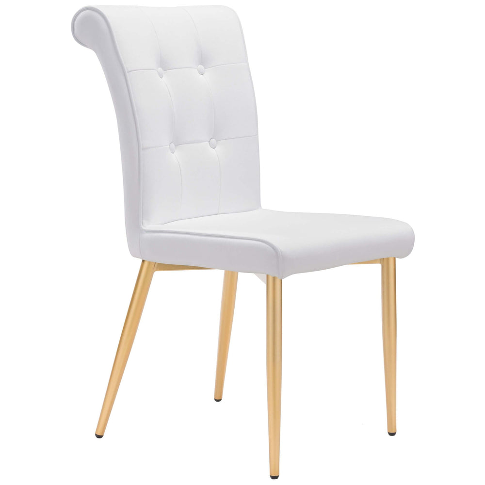 Niles Dining Chair, White (Set of 2) - Furniture - Zuo Modern