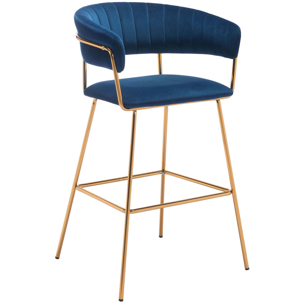 Hanna Bar Chair, Dark Blue - Furniture - Chairs - High Fashion Home