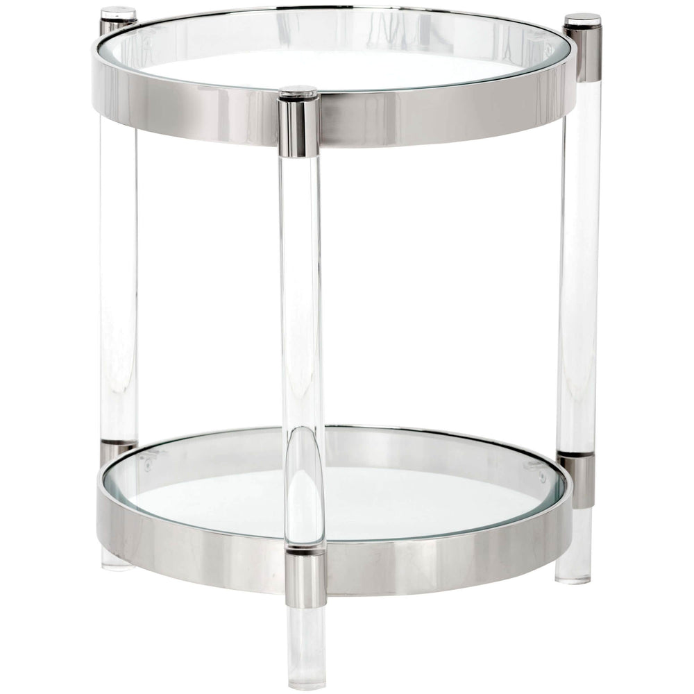 York Side Table, Brushed Stainless