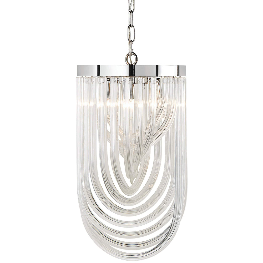 Kepler Small Chandelier, Clear Glass - Lighting - High Fashion Home