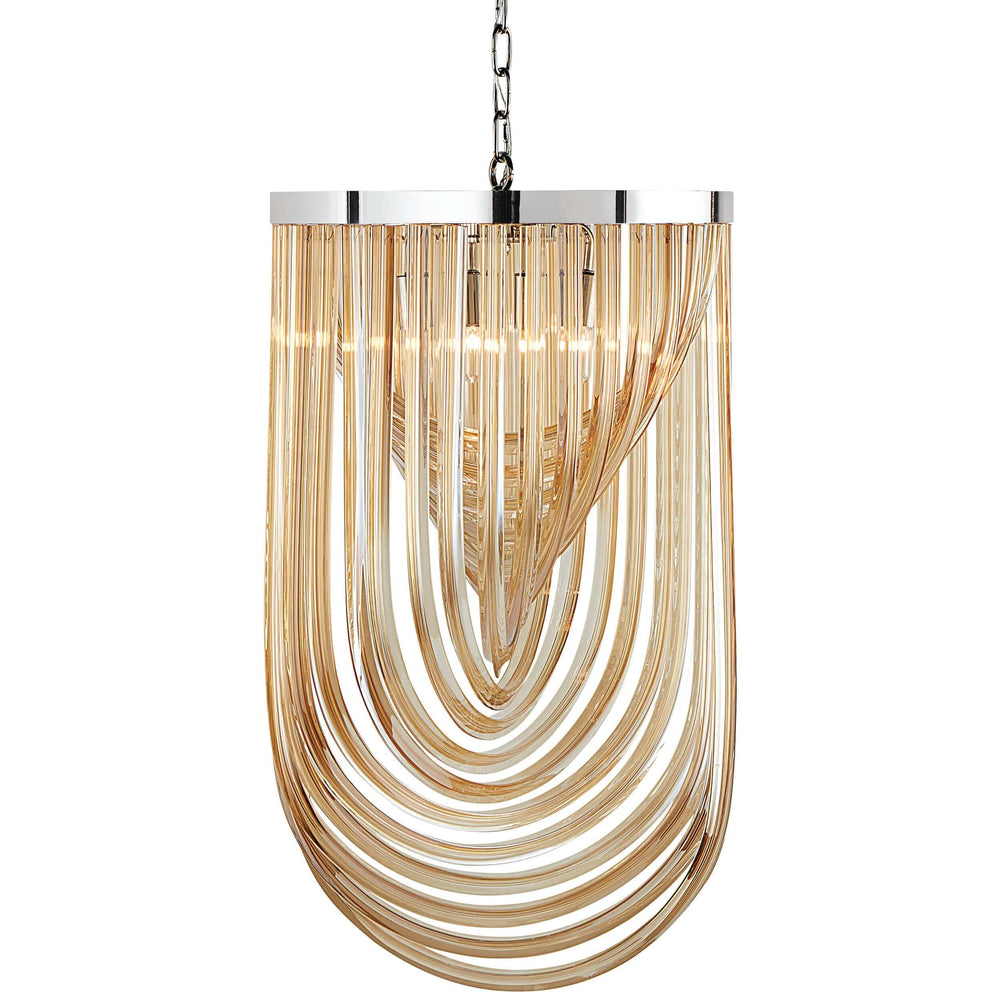 Kepler Large Chandelier,  Amber Glass - Furniture - Sunpan