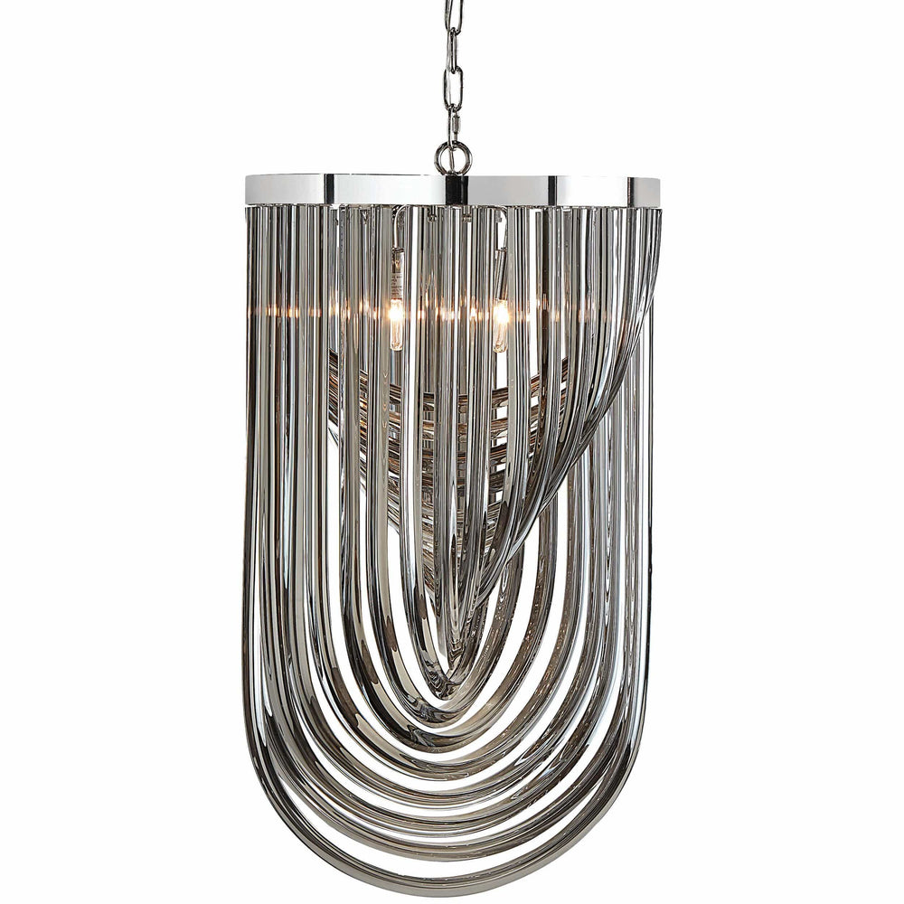 Kepler Large Chandelier, Smoke Grey Glass - Furniture - Sunpan